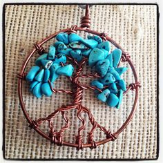 Turquoise & Bronze Tree of Life Pendant by LittleHouseofVintage, $28.00