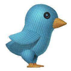 Knit Bird for Twitter
