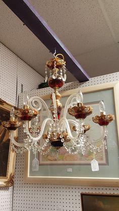 Antique chandelier at Williamsburg Antique Mall, Williamsburg, Va