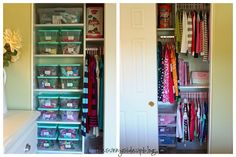 love how the closet is stagered for shirts/ dresses