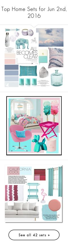 """""""Top Home Sets for Jun 2nd, 2016"""" by polyvore ❤ liked on Polyvore featuring interior, interiors, interior design, home, home decor, interior decorating, Kate Spade, Bliss, Thro and Voluspa"""