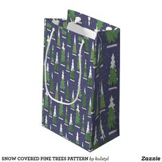 Get full color Winter gift bags from Zazzle. Each one of our gift bags is decorated with fantastic designs, images, or artwork. Tree Patterns, Pine Tree, Christmas Design, Gift Bags, Trees, Snow, Cover, Winter, Artwork