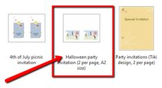 You don't need any design skills to create chic Halloween party invitations. All you need is MS Word 2010 and a few minutes of your time.   #Halloween #party #invitation #template