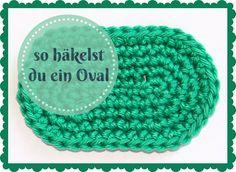 Ein Oval ist eine geometrische Grundform, die man beim Häkeln immer wieder mal brauchen kann, z.B. als Sohle für einen Schuh (Babyschuh oder Hausschlapfen) oder als Boden für eine Tasche. Das Oval …