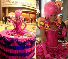Strolling human table by Athena Zhe, MGM Grand at Foxwoods CT