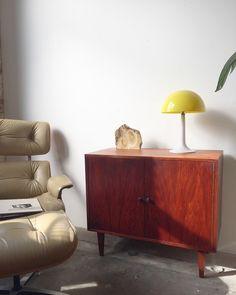 Beautiful MidCentury Walnut Record Cabinet