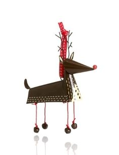 Crimbleberry Wood Ron the Reindeer Tin Christmas Tree Decoration - Mar