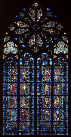 ⛪️ Vitrail du XIIIe siècle - Cathédrale Saint-Gatien de Tours (Indre-et-Loire)