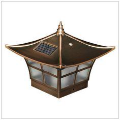 23 best solar deck fence post cap lights images on pinterest cap solar deck post cap lights 4x4 copper ambience wood vinyl posts aloadofball Images