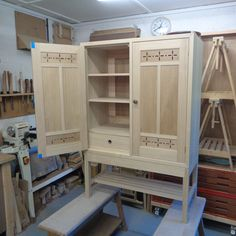 Crockery cabinet in sweet chestnut ready for finishing. Harvey Furniture, Crockery Cabinet, Sweet Chestnut, Craft Items, Wooden Boxes, Locker Storage, Furniture Design, Home Decor, Wood Boxes