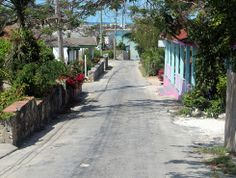 Looking down the uphill, Governor's Harbour, Eleuthera