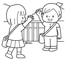 preschool coloring pages friends | friendship coloring pages for preschool | friends coling ...