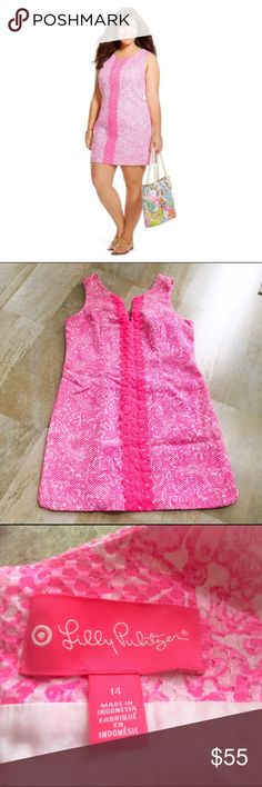 Lilly Pulitzer for Target Pink Shift Dress This is a gently used Lilly Pulitzer for Target Pink Shift Dress. Worn once. In excellent condition. No signs of wear. Lilly Pulitzer for Target Dresses