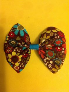 Flowers in brown bow $4.00