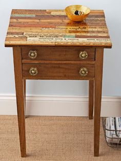 Ruler-Topped Table