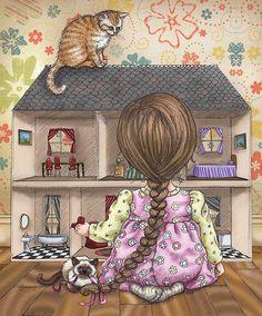 La casa de muñecas de vian #ilustracion #dibujo #infantil