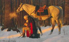 Arnold Friberg (December 1913 – July was an American illustrator and painter noted for his religious and patriotic works. He is perhaps best known for his 1975 painting The Prayer at Valley Forge, a depiction of George Washington praying at Valley Forge. Independance Day, Valley Forge, American Revolutionary War, God Bless America, Before Us, Founding Fathers, First Nations, American History, American Presidents