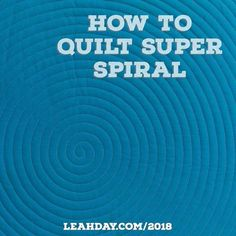 Quilt Super Spiral with Walking Foot and Longarm Quilting The Free Motion Quilting Project: Let's Quilt Super Spiral!The Free Motion Quilting Project: Let's Quilt Super Spiral! Circle Quilt Patterns, Quilting Stitch Patterns, Machine Quilting Patterns, Circle Quilts, Quilt Stitching, Quilt Patterns Free, Quilting Tutorials, Quilting Projects, Quilting Ideas