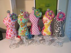 Dressform pincushions—so cute! I'll be making some of these!
