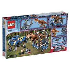 LEGO Jurassic World T. Rex Tracker 75918 Building Kit is out before the movie. Grab yours now and start playing Jurassic World with dinosaurs and characters that you will soon see in the movie. Jurassic World T Rex, Lego Jurassic Park, Legos, Spiderman Theme, Prehistoric Creatures, Dinosaur Toys, Lego Pieces, Cute Pokemon, Lego Creations