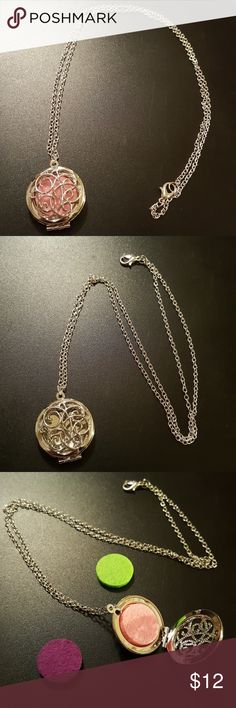 NWOT BOGO Aromatherapy Necklace Comes with dropper and 3 felt pads. Just add essential oil and start feeling better! Buy this item to get a free pair of wooden earrings! Jewelry Necklaces