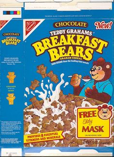 Breakfast Bears Cereal i loved these Retro Recipes, Vintage Recipes, Kids Cereal, Cereal Boxes, 80s Food, Retro Food, Discontinued Food, Types Of Cereal, Cereal Cookies
