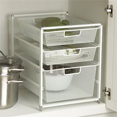 The Container Store Cabinet-Sized elfa Mesh Drawer Solution - perfect for my #kitchen revamp
