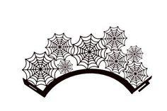 3D SVG Cupcake wrapper spiderweb design DIGITAL download by MySVGHUT on Etsy