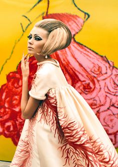 Valentino dress (1969) by Ruven Afanador, 2000.