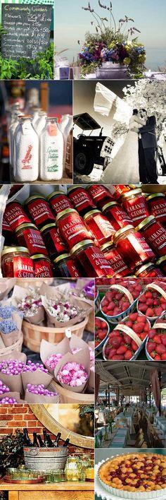 more farmer's market wedding theme
