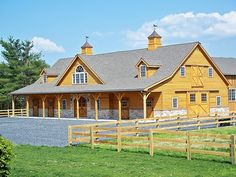Barn with indoor arena.