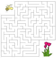 Word Puzzles For Kids, Mazes For Kids, Worksheets For Kids, Art For Kids, School Age Activities, Preschool Education, Craft Activities For Kids, Math Activities, Maze Worksheet