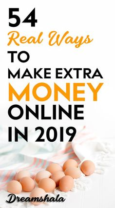 54 real ways to make extra money online in by dreamshala Read Earn Money Online, Make Money Blogging, Online Jobs, Money Tips, Saving Money, Online Income, Make Money Fast, Make Money From Home, Online Checks