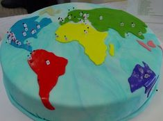 First Birthday Map Of The World Flags Country And Cake - World birthday cake