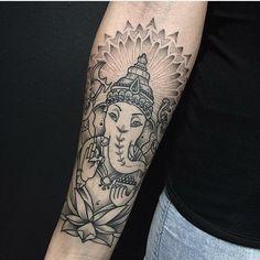 Tattoo artist miss Sita follow on Instagram @misssita  Ganesh tattoo mandala dotwork