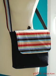Messenger bag tutorial tutorial DIY craft fabric project