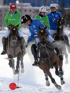 Attend the Snow Polo tournament in St. Moritz http://www.snowpolo-stmoritz.com