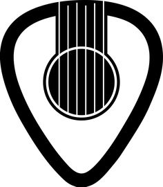 My design. Guitar pick, guitar, sound hole, tattoo.