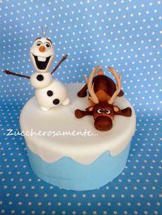 Zuccherosamente...: Olaf e Sven direttamente da Frozen....in pasta di ...
