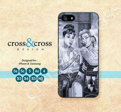 Marilyn Monroe Audrey Hepburn iPhone 5 case by CrossAndCross, $3.99