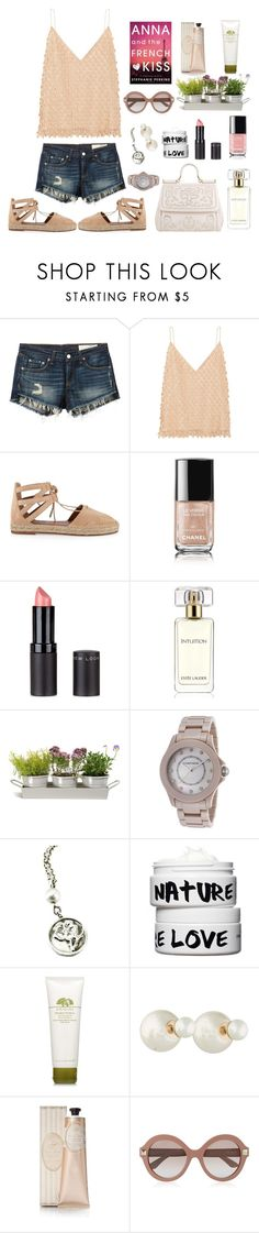 """""""Sitting on the balcony reading Anna and the French kiss :-*"""" by lenekoehn ❤ liked on Polyvore featuring rag & bone/JEAN, Balenciaga, Aquazzura, Chanel, New Look, Estée Lauder, Dolce&Gabbana, Garden Trading, Cabochon and Tiffany & Co."""