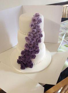 Shades of Purple ,Lilac Wedding Cake  - Cake by Vanessa Platt  ... Ness's Cupcakes Stoke on Trent