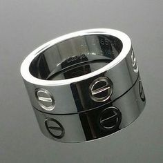 cartier love ring white gold wbox
