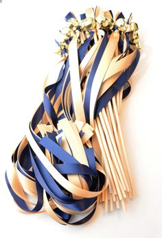 50 Ceremony Send Off Ribbon Bell Wands ~ Wedding Favors ~ Choose your colors… Wedding Ribbon Wands, Wedding Favors, Wedding Dreams, Dream Wedding, Bachelorette Ideas, Festival Wedding, Budget Wedding, Vows, 1940s