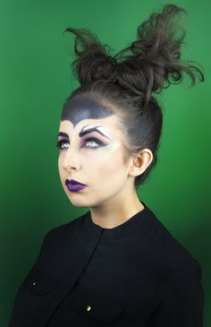 Maleficent inspired make-up
