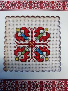 Creative Embroidery, Folk Embroidery, Cross Stitch Embroidery, Embroidery Designs, Mini Cross Stitch, Simple Cross Stitch, Cross Stitch Designs, Cross Stitch Patterns, Bracelet Crafts