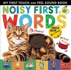 Buy Noisy First Words by Libby Walden at Mighty Ape NZ. Touch, feel and discover first words with this interactive, chunky board book. It is packed with appealing pictures, tactile textures and spoken words.