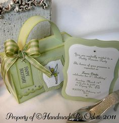 tinkerbell invitations, handmade by odette
