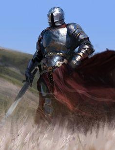 fantasyartwatch:  Fabulous Knight by Damian Audino