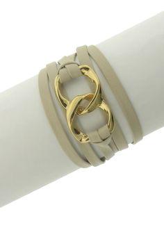 Double Link Leather Wrap Bracelet. love love love! #mymaxxexpression #tjmaxx